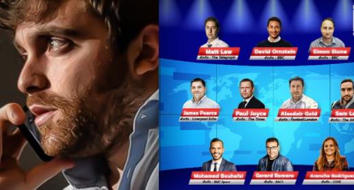 "10 Tier 1 journalists abroad"" besides Fabrizio Romano"